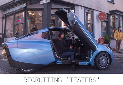 Recruiting hydrogen car testers